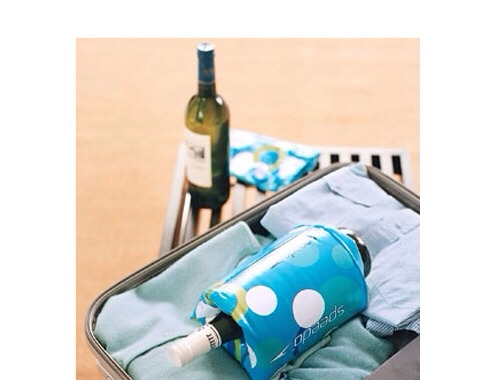 Packing tip: Protect breakables such as wine bottles or food containers with children's inflatable floaters