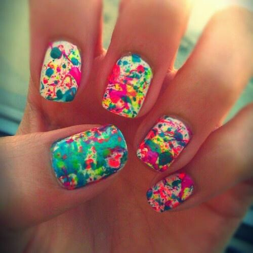 * Literally splatter polish on for a very artistic look.