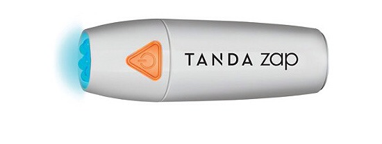Erase a Pimple  The Tanda Zap looks so easy! Apply this small flashlight device to your skin a few times a day and your pimples will start to disappear. it doesn't work for all types of acne, but it does work for most blemishes!  Try: Tanda Zap Acne Spot Treatment Device $49