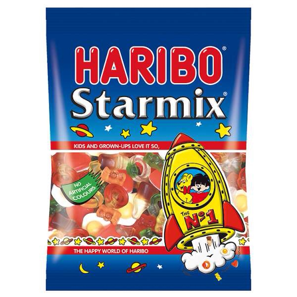 And finally, last but not least, a packet of Haribo Starmix (in a large packet) consists of 35 TEASPOONS of sugar!!!!!!!