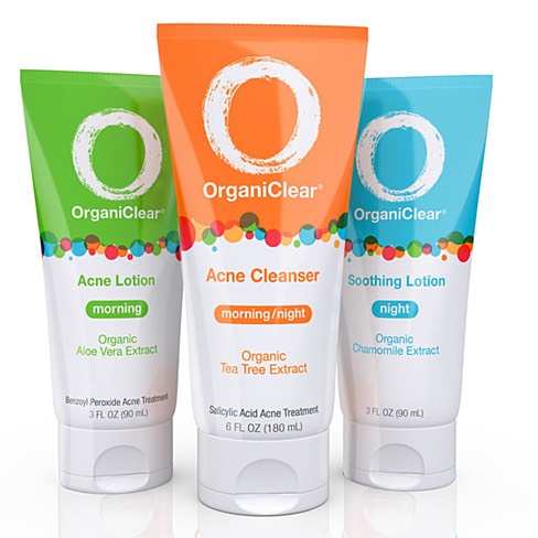 Only 2 Steps, Twice a Day  The OrganiClearacne treatment kithas 3 products. But you only need to use 2 products at a time morning and night.
