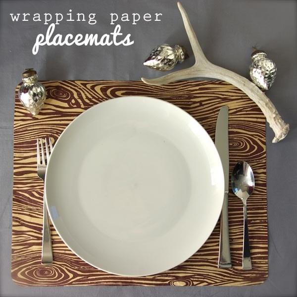 turn old placemats in to new pretty ones