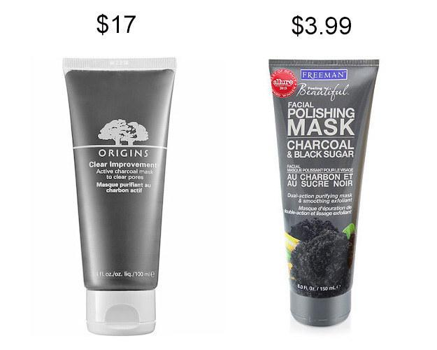 Freeman Facial Polishing Mask with charcoal and black sugar instead of Origins Clear Improvement charcoal mask .