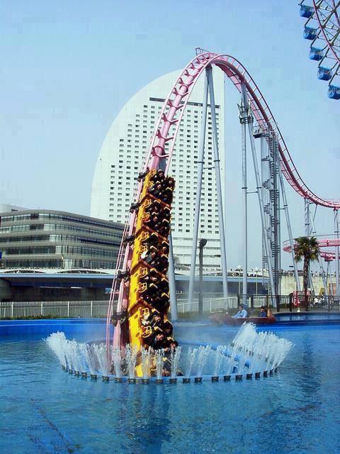 Japan, underwater Roller Coaster in Yokohama