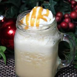 Directions Blend ice, coffee, milk, caramel sauce, and sugar together in a blender on high until smooth. Pour drink into two 16-ounce glasses.