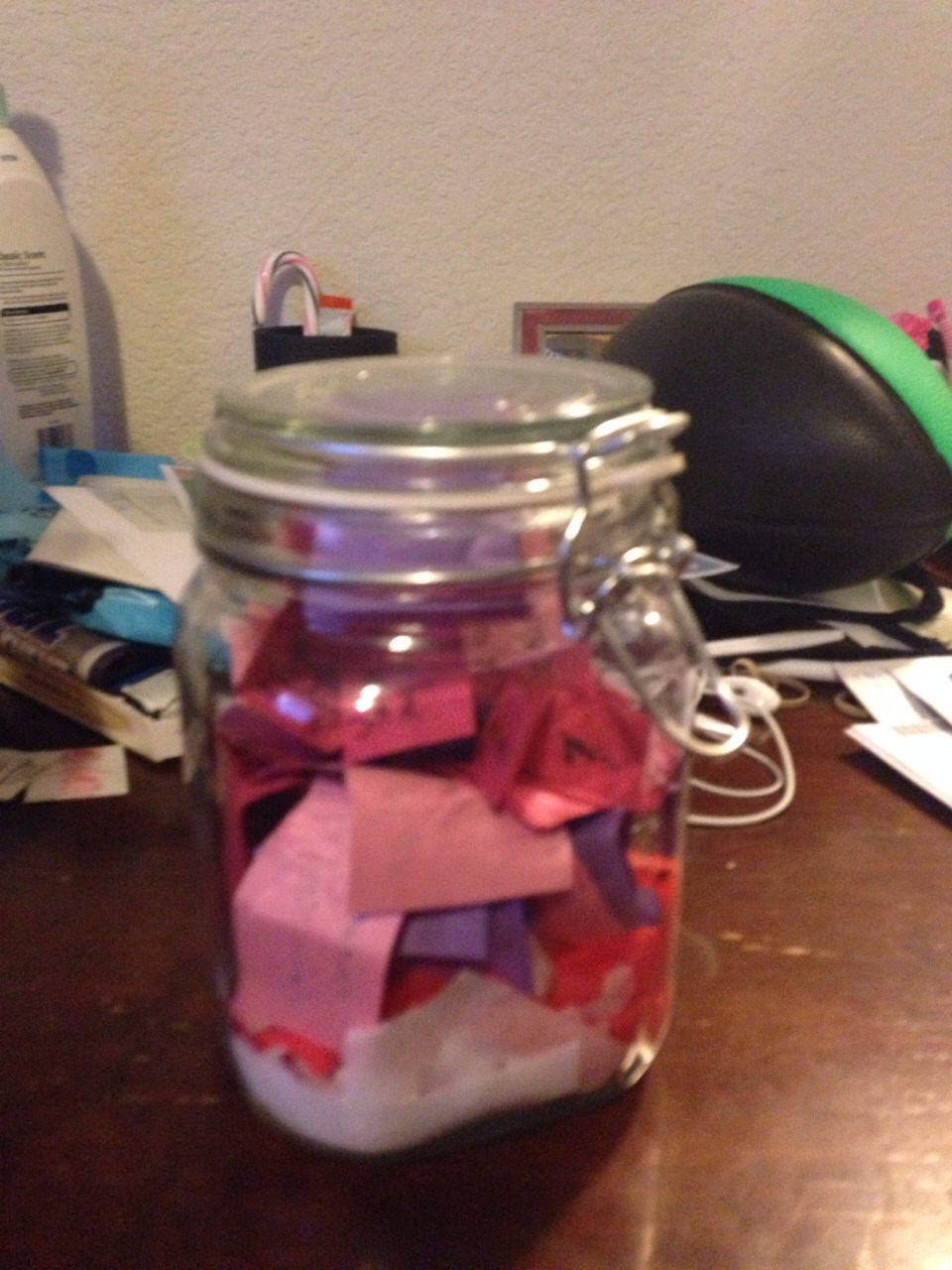 Get a small jar that closes. Write cute quotes, inspirations, or things that will make your significant other know how much you love them.