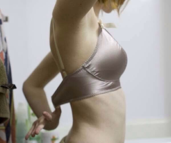 Does your bra fit right? Stick two fingers under the strap, if they fit and there's a little bit of room, it fits. If you can't stick two fingers under it, it's too small. If there's a lot of room, it's too big.