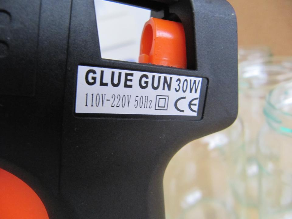 This is a small glue gun that I bought from Geant for $2.50 It was surprisingly cheap.