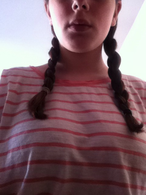 Braid it (this makes the hair stronger and more flexible)