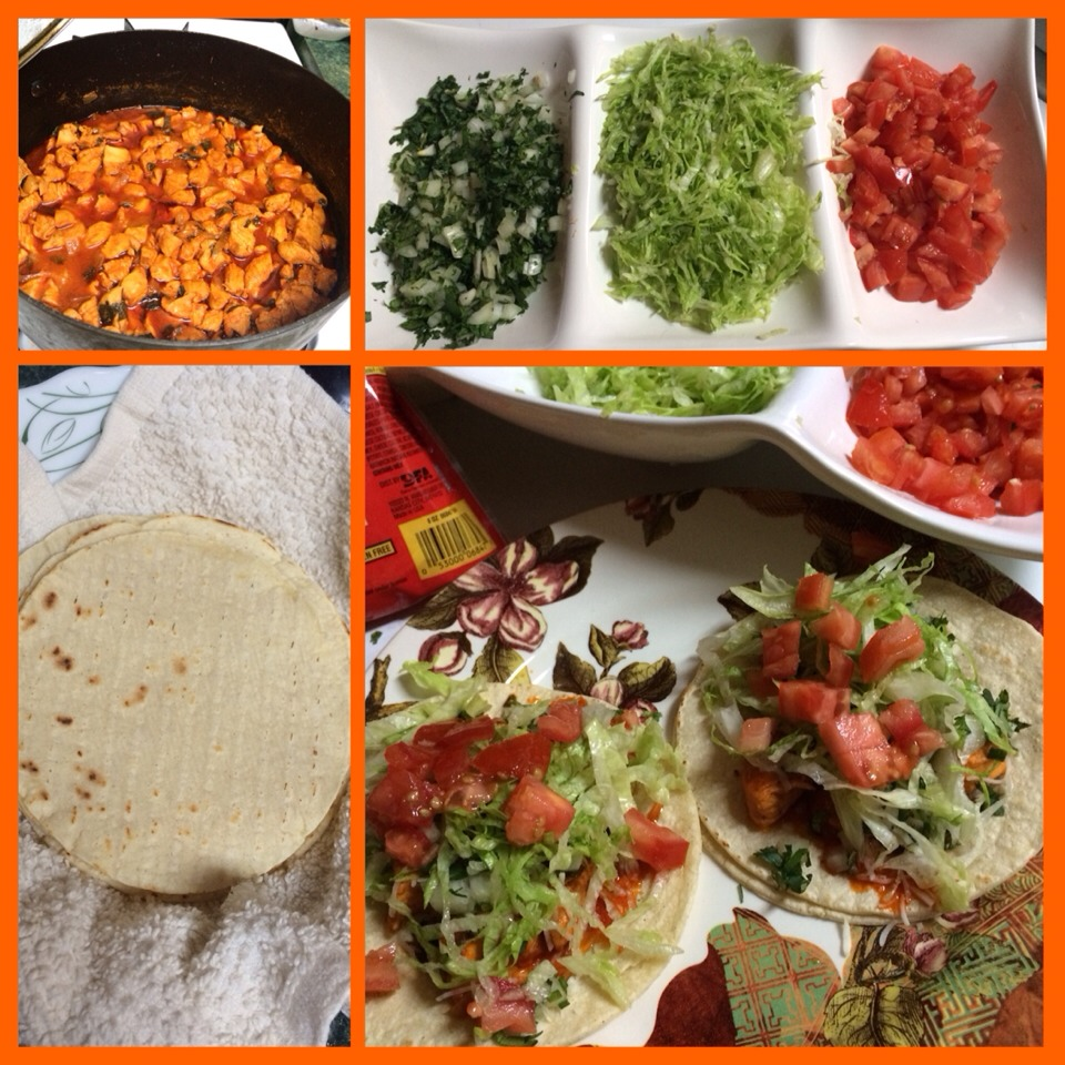 Make yummy chicken tacos for friends and family !