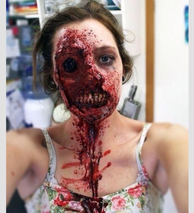 Musely if you want to learn how to do these check out my easy how to zombie makeup post an my diy fake blood post solutioingenieria Images