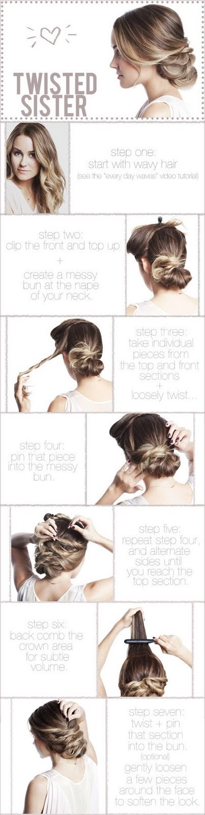 Split the rest of your hair in two sections and braid each section