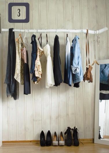 3. You can make a cool closet pole :)