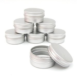 Get whatever lip balm pot that you want to put it into and pour the mixture in. Be careful not to spill or overflow it.
