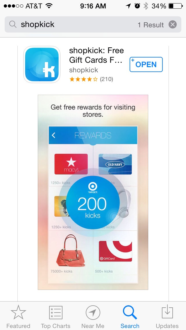 You earn kicks by walking in stores & scanning certain items. #Easy
