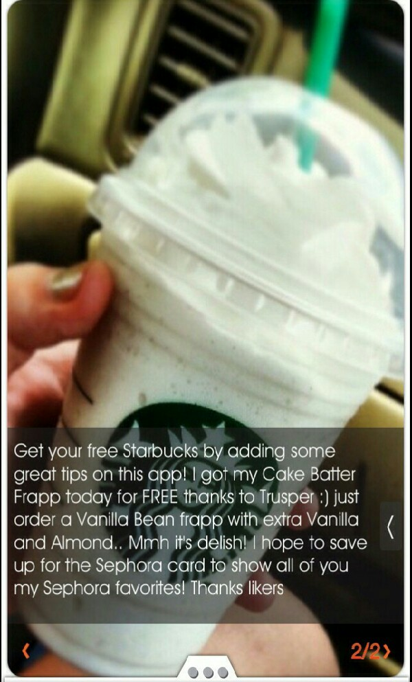 get a Free Starbucks drink :D