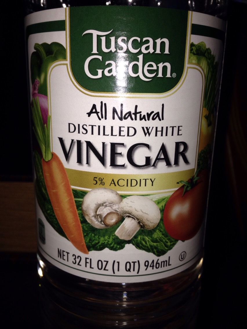 All you need is white vinegar.