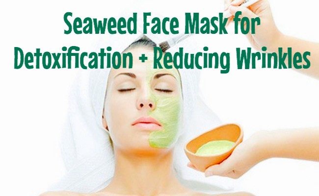 This seaweed face mask absorbs toxins from the skin, nourishes the skin + stimulates circulation. Applying the face mask twice a week helps in slowing down skin aging.