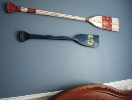 Create these nautical, distressed oars.