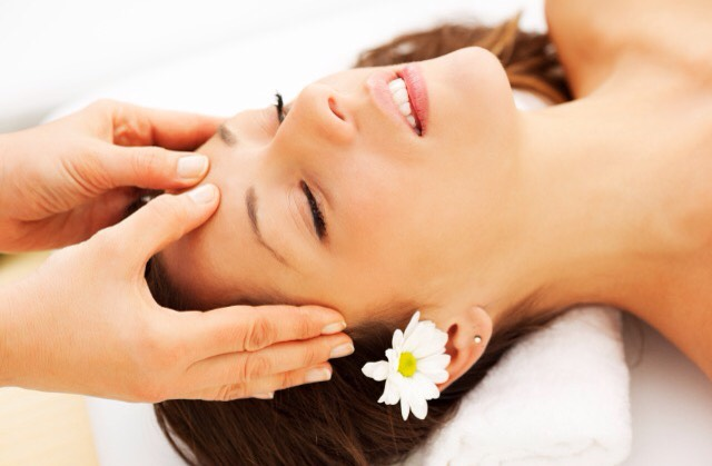 Massage your head. I often have headaches so a nice head massage helps me calm down.