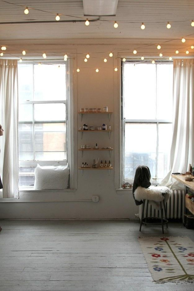 14. Or use them to brighten and draw attention to high ceilings.