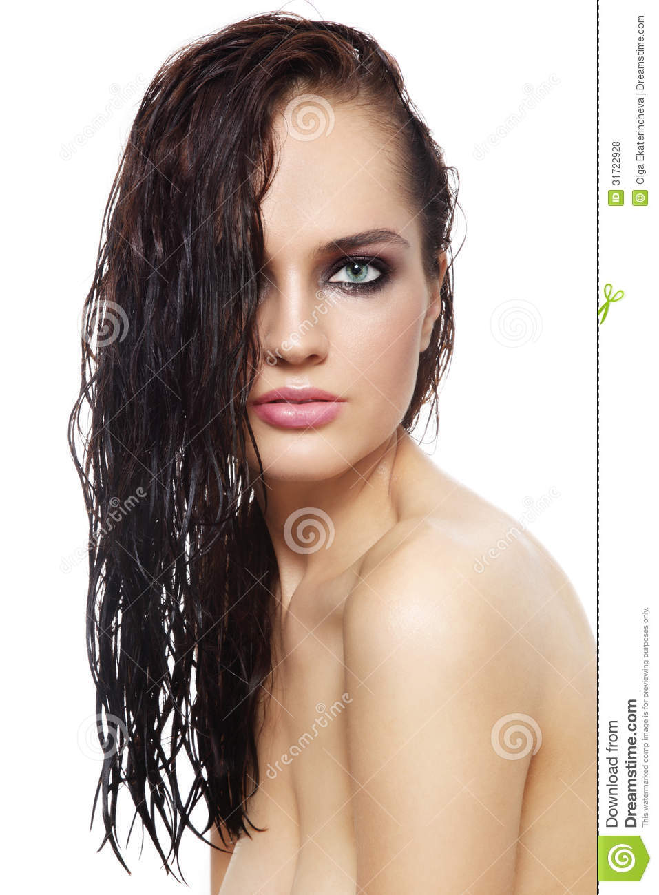 "Give your hair a burst of cold water just before you get out of the shower. Water acts to ""close the pores"" of your hair (as it does with skin), so your hair will look shinier when it dries."