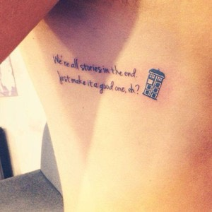 Doctor who quote tattoo