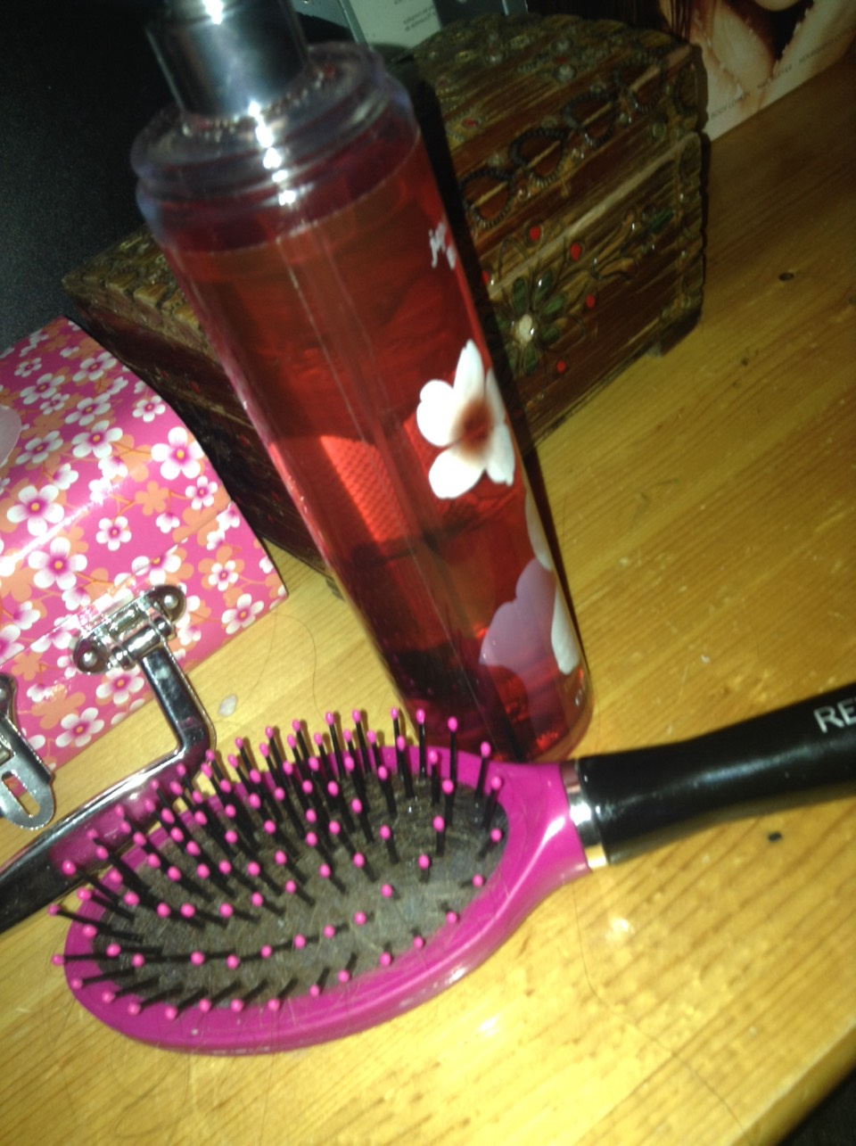 Brush through your hair and your hair smells nice