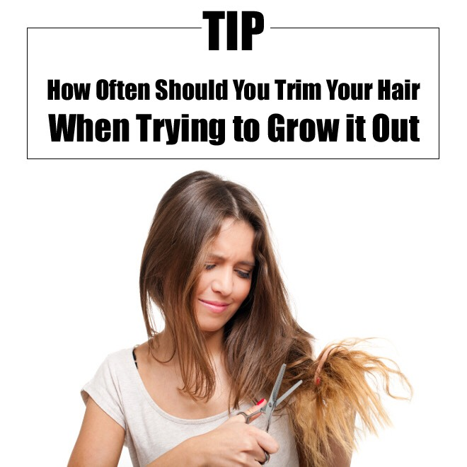 When growing your hair out, you should go get a trim every three months.