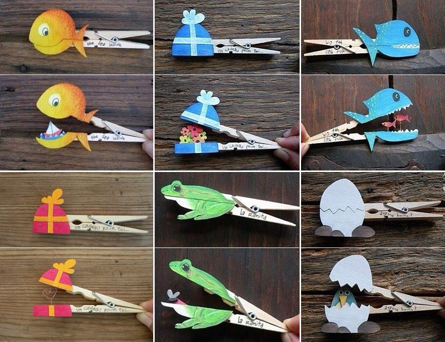 You can make them with wood, or have the kids use construction paper :) make cute shapes and animals like above and put a little surprise inside. Cute little stocking stuffers, and write a loving message on the side like the picture! Have fun!