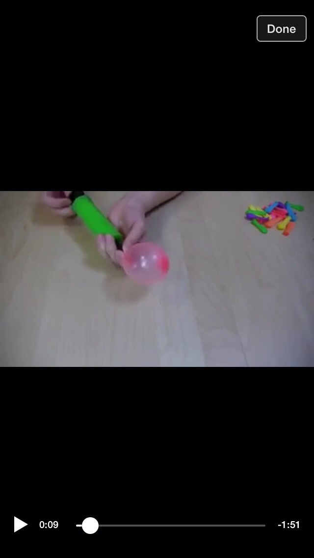 Pump some small balloons