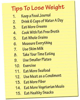 Here are some additional tips for helping you to lose weight.