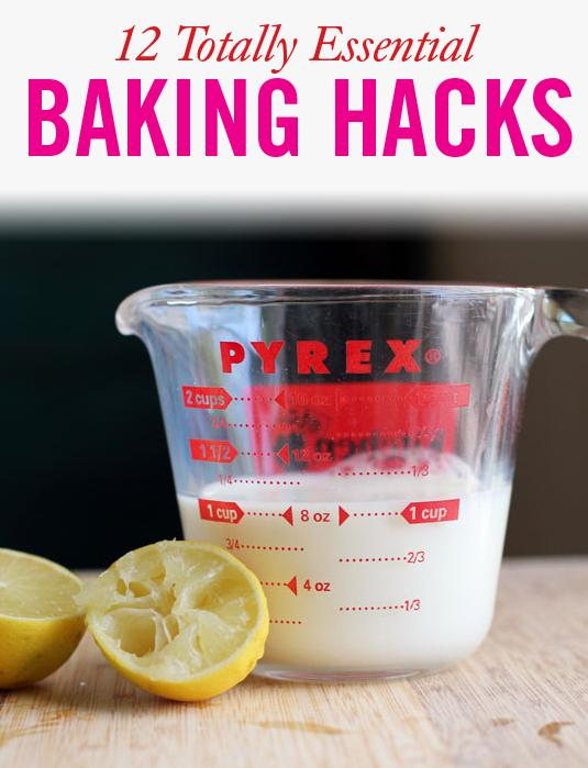 1. Make your own buttermilk using regular milk and lemon juice.