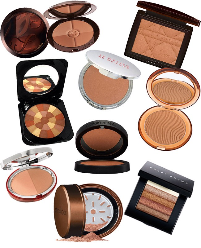 Is your bronzer too dark ?? Mix it with cornstarch/cornflower or a matt highlighter.