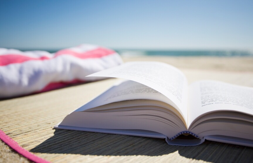 Of course a book on the beach is as relaxing as it gets.  Grab a new summer read and chill by the ocean!