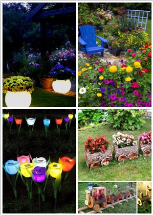 Add flowers to your backyard in order to add more charm to scene