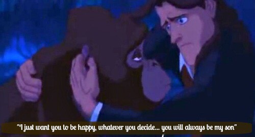 "💕Kala shows Tarzan where he came from and says, ""I just want you to be happy, whatever you decide...you will always be my son.""💕"