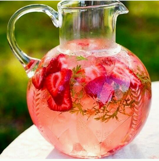 Strawberry Watermelon Detox Water