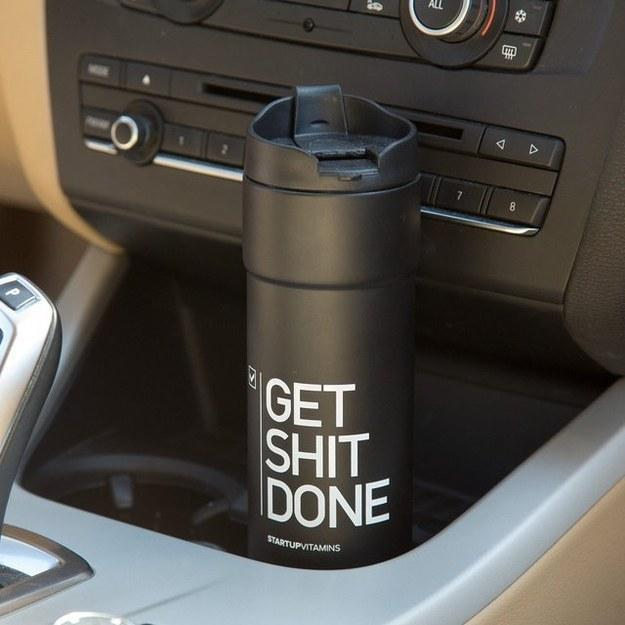 16. This provoking travel mug: