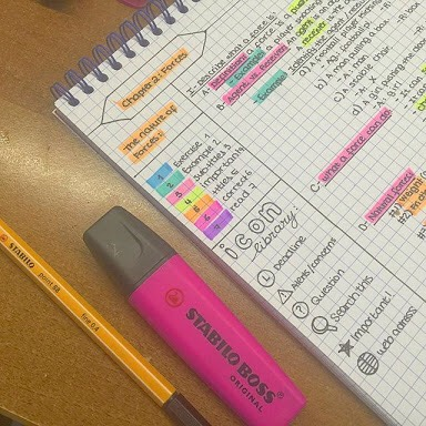 Colour co-ordinate your notes! This is also self-explanatory but all you have to do is highlight your notes.