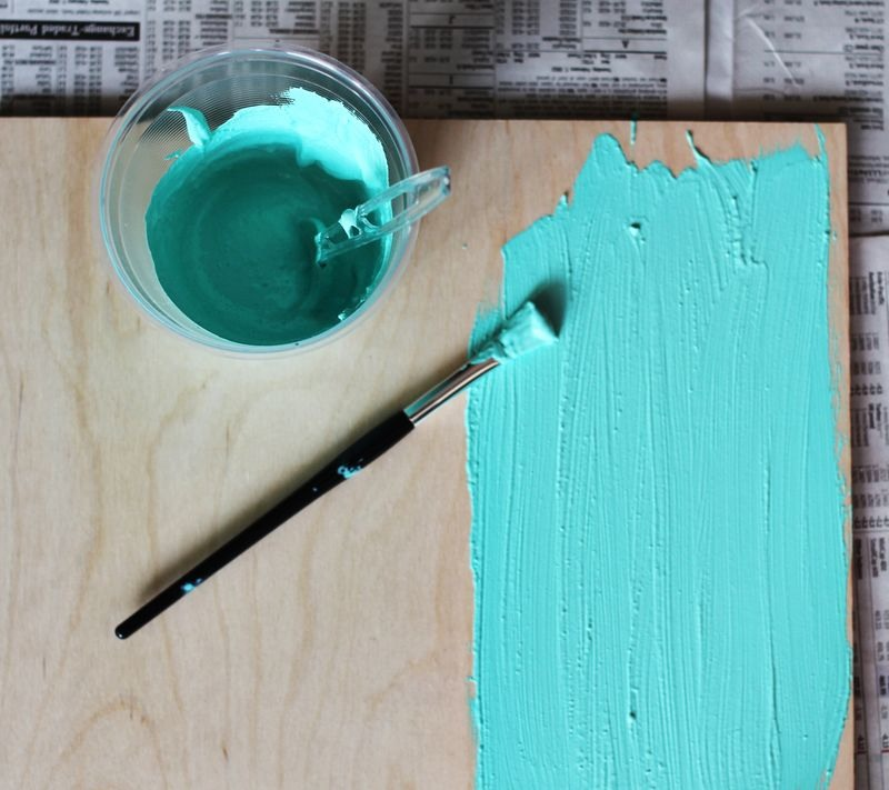 Mix together until no lumps are left. Then pant any surface you desire and enjoy your new custom chalkboard paint!