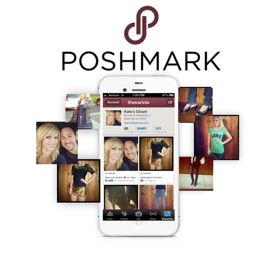 Download Poshmark - where you can buy/sell clothes from department stores and designer brands, as well as vintage. It's like one big yard sale!