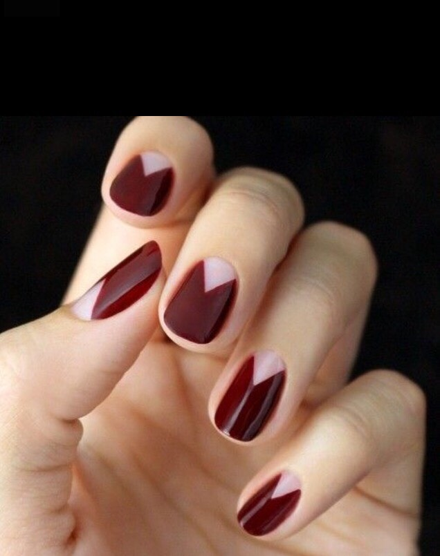 22. REVERSE FRENCH TIPS IN RED