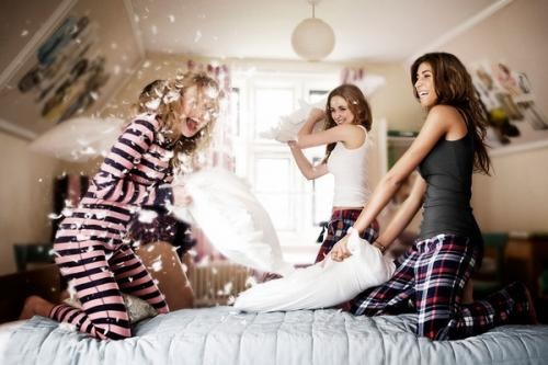 8. Have pillow fight  This is just plain fun
