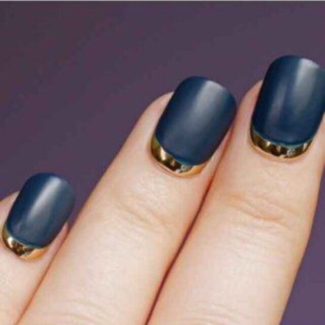 25. MATTE NAVY WITH GOLD
