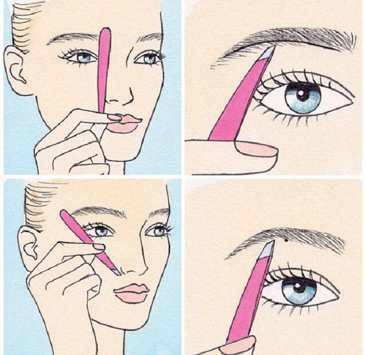 Use this guide when doing your brows.