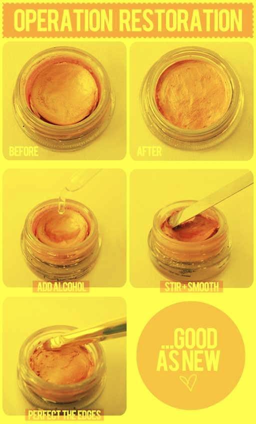 how to fix a broken makeup highlighter