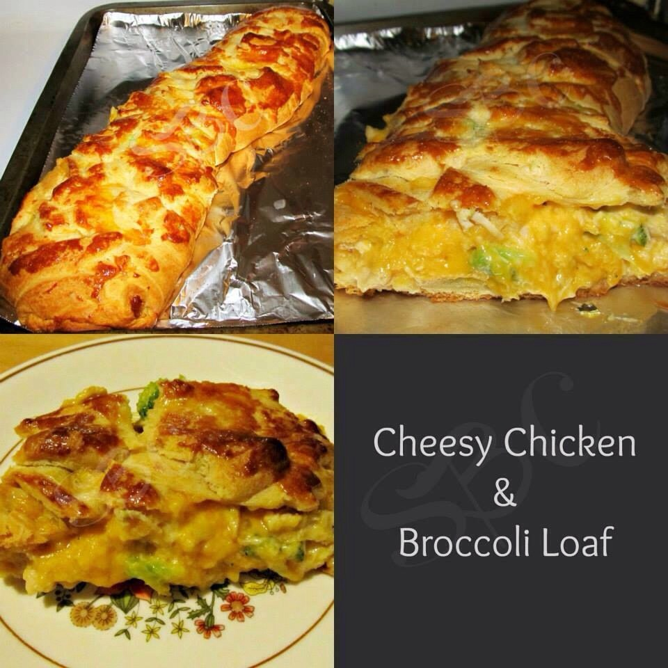 2 cups of chicken cut into small pieces 2 cans of Pillsbury Original Crescent Rolls 2 cups cheddar cheese 2 cups broccoli, frozen, steamed and chopped (I used Birds Eye Steam in Bag) ½ cup light mayonnaise 1 egg yolk Seasoning to taste (I used garlic powder on too of dough)