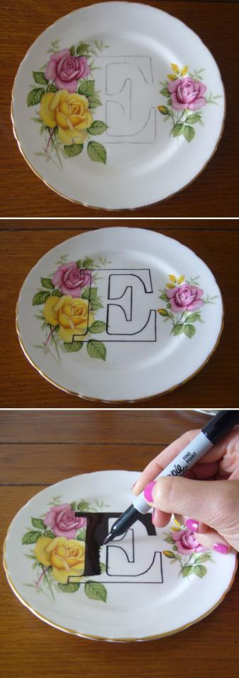 you can spell out a word to decorate your kitchen or dining room