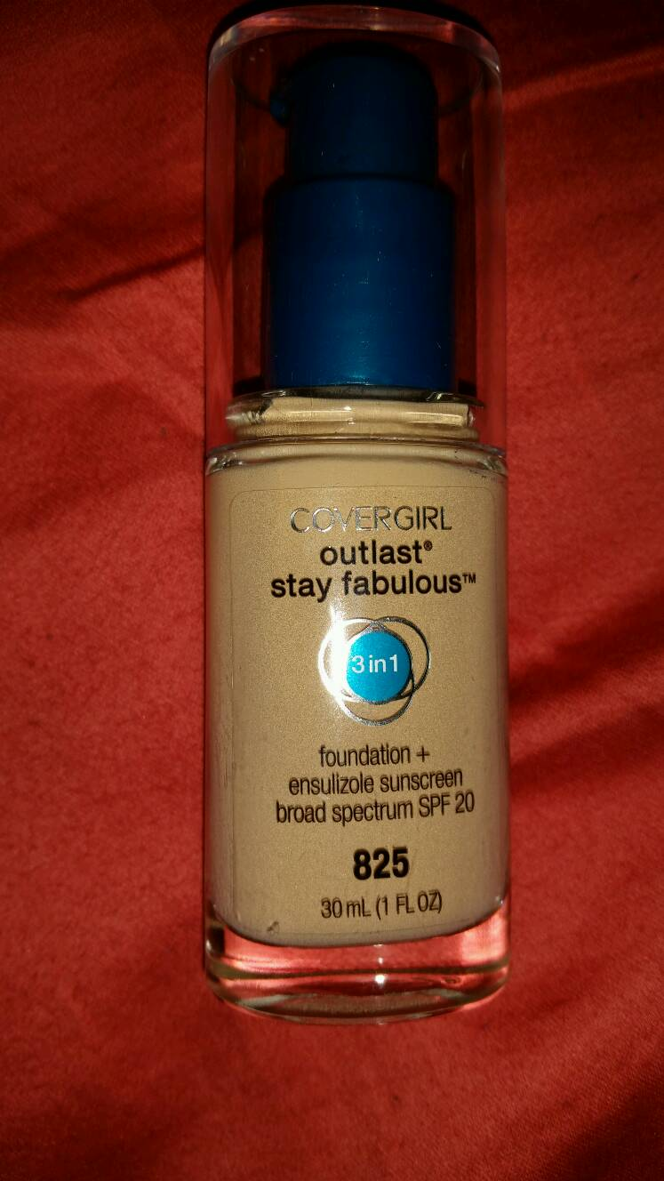 Covergirl outlast stay fabulous foundation. Everything about this foundation is awesome. I'm a huge fan and I think the color match and coverage is awesome. Target $10